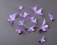3D Butterfly Wall Art: Lilac Purple Metallic Butterfly