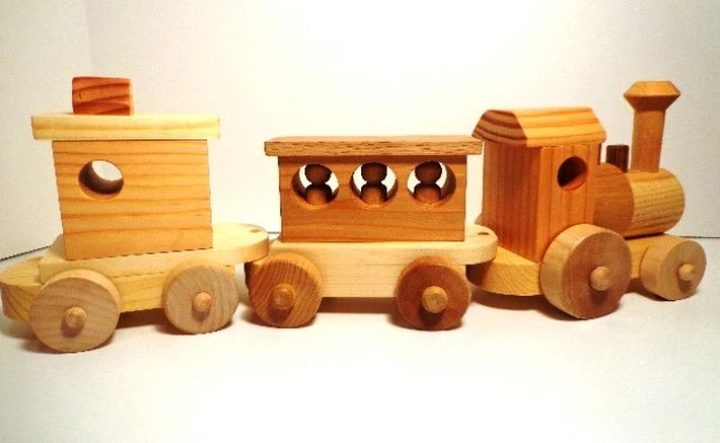 Wooden Toy Train Set Heirloom Quality Classic Toy Hand