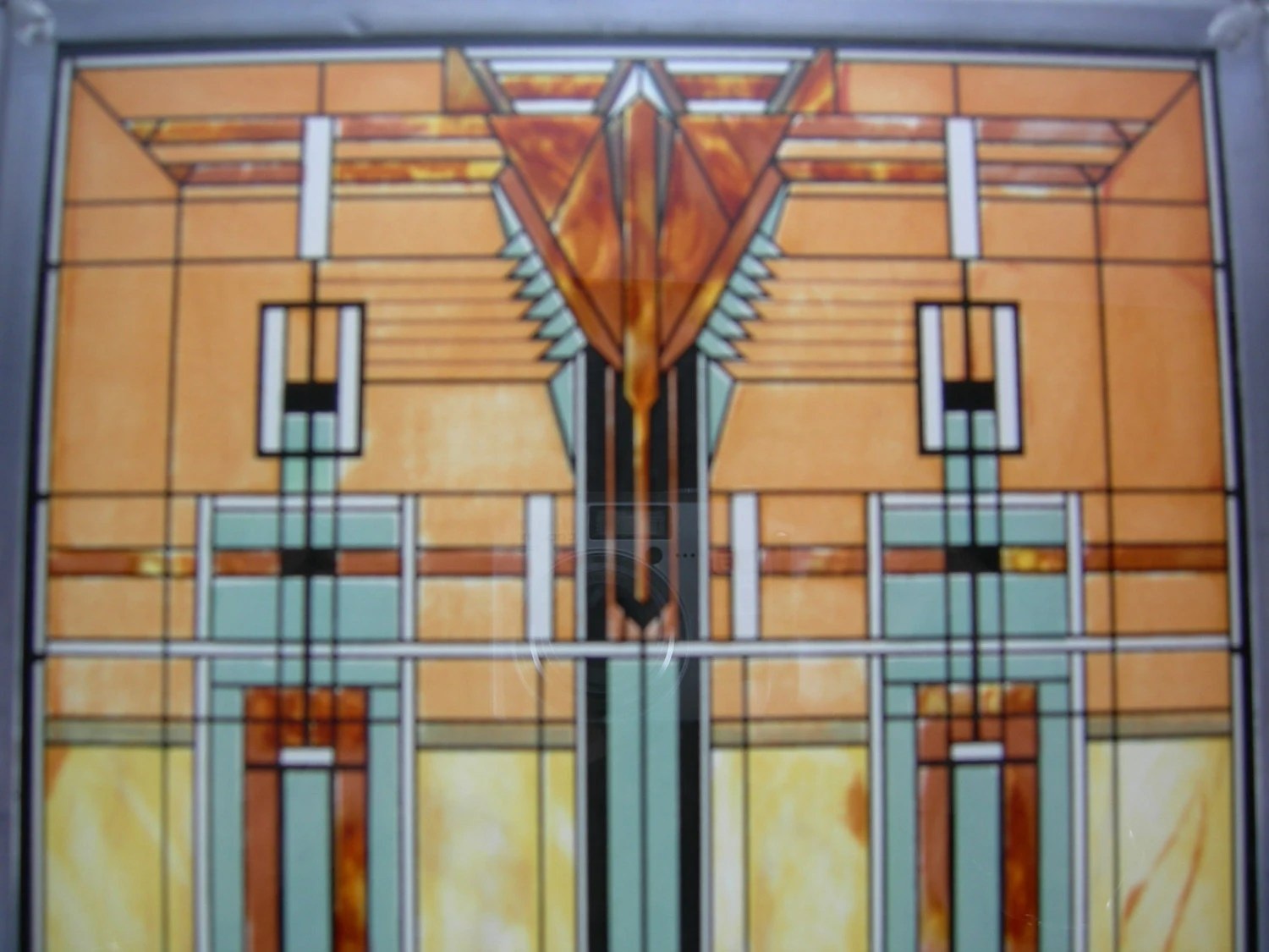 Frank Lloyd Wright Prints Framed Stained Glass Frank Lloyd Wright Foundation Framed By