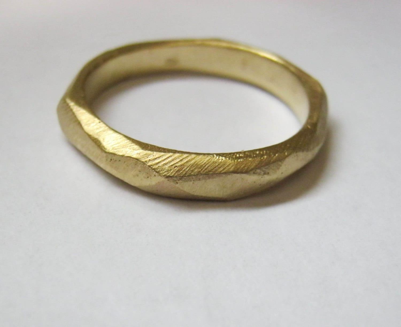 14k gold mens wedding band womans 14k gold wedding band zoom