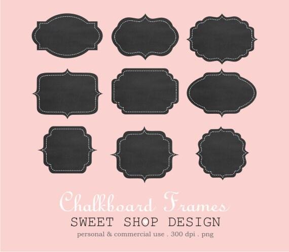 Chalkboard Clip Art, Label or Tag Clip Art, Frames Clip Art, Royalty - label