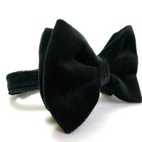 READY TO SHIP Oversized Bow Tie Black Cotton by moaningminnie