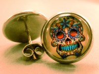 Skull Studs: Sugar Skull Stud Earrings Skull EarringsDay of