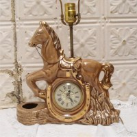 Horse Clock Lamp And Shade Works by LovnVintageLaura on Etsy