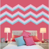 Chevron Wall Decals FABRIC WALL DECAL Reusable Peel and Stick