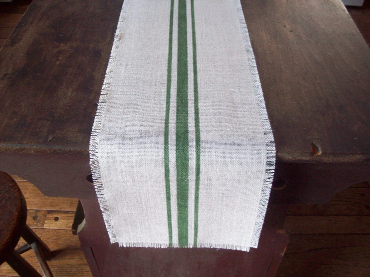 Farmhouse Style Table Runners Farmhouse Table Runner With Dark Green Stripes Or Choose