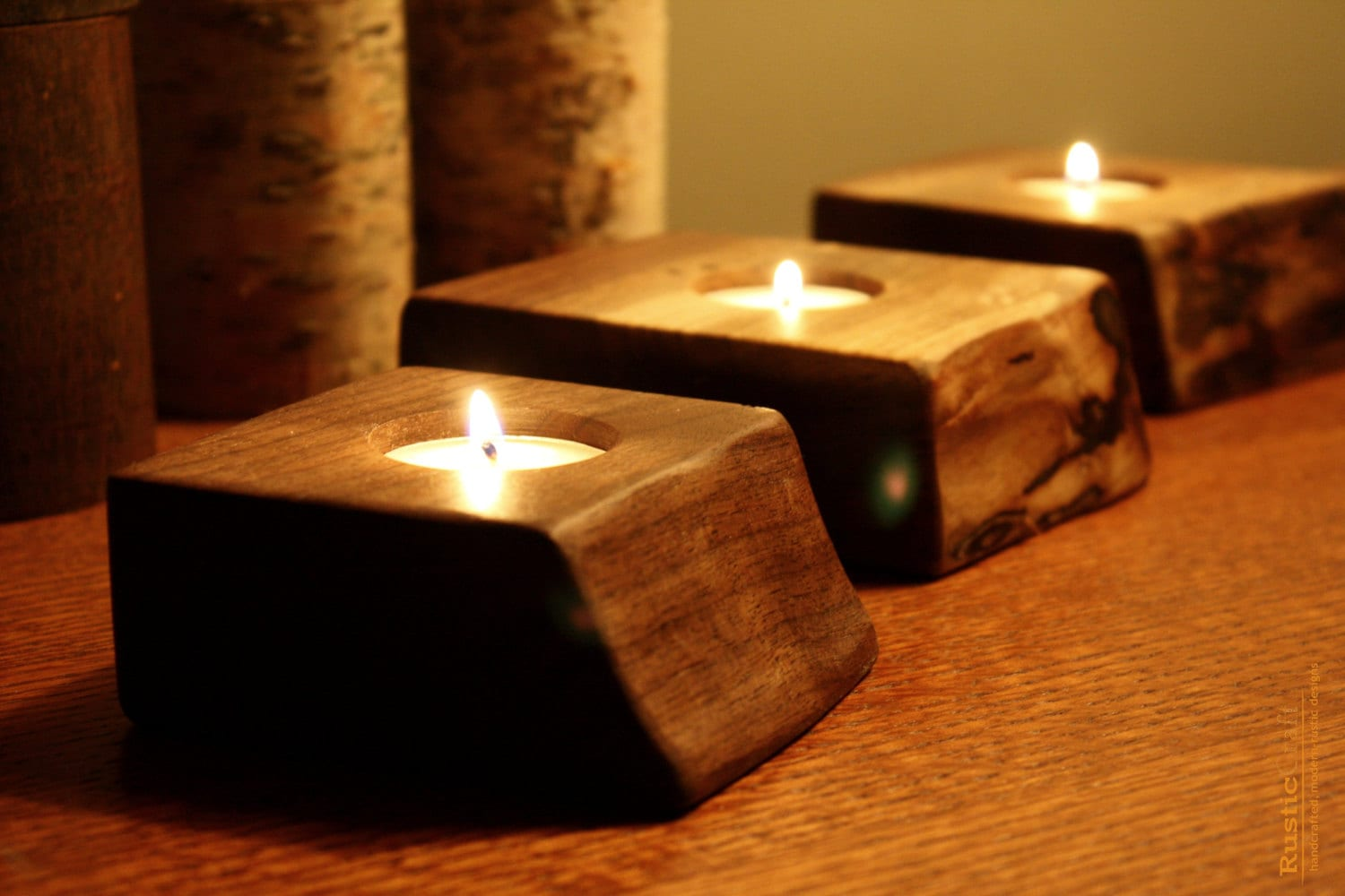 Cool Candle Holders Single Tealight Holder Wood Gifts Personalized Candle