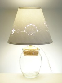 Small Fillable Glass lamp