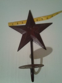 Items similar to Metal Texas Star Candle Holder Wall ...