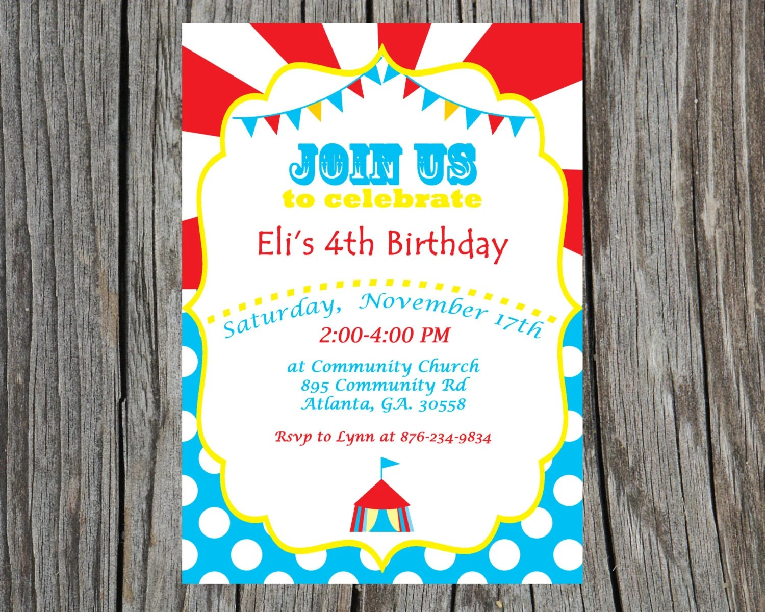 Carnival Invitation Boy Circus Invite Printable Carnival Invite - Circus Party Invitation