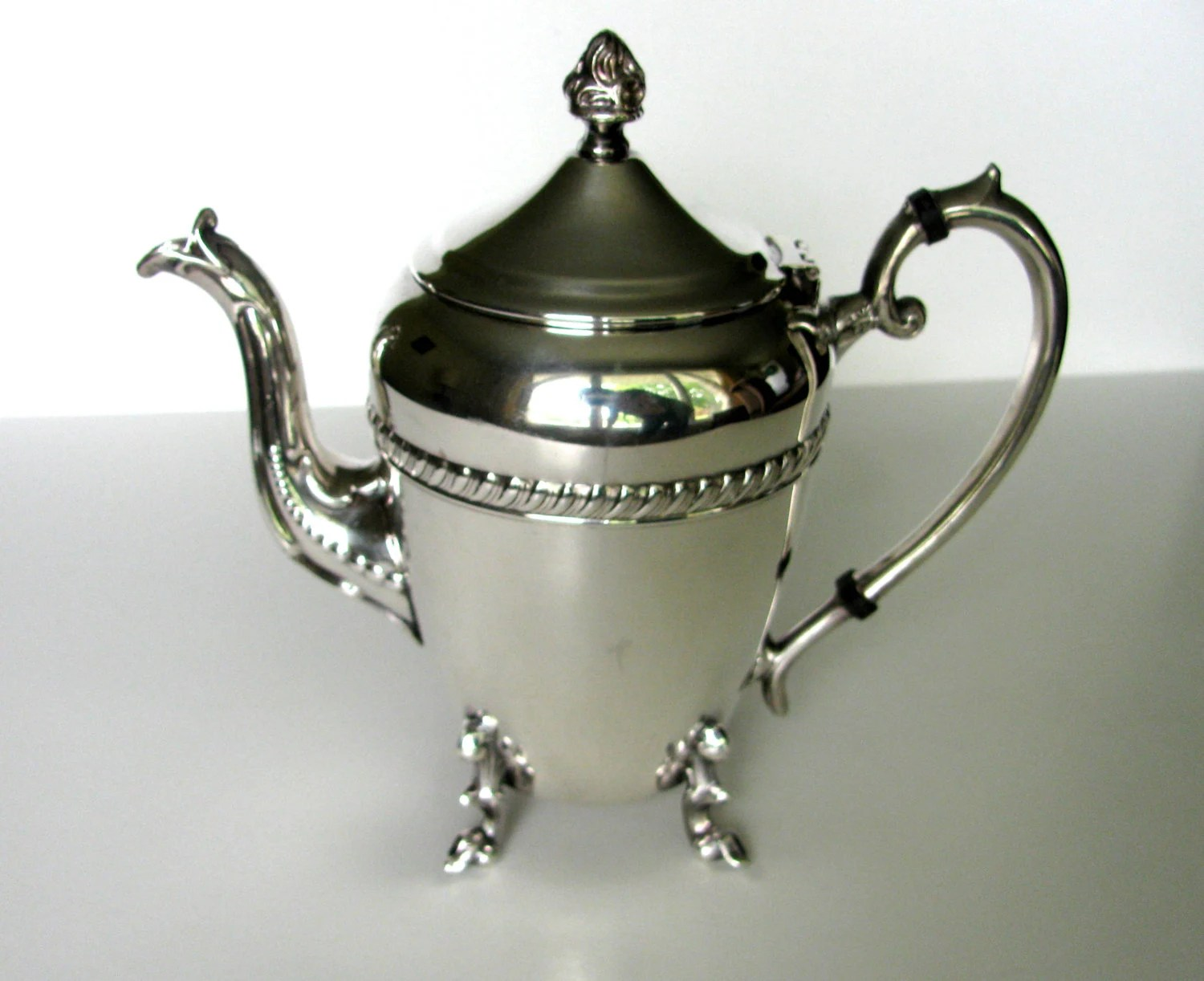 Looking For Teapots Vintage Teapot Crosby Silver Plate Teapot Coffee Pot Downton