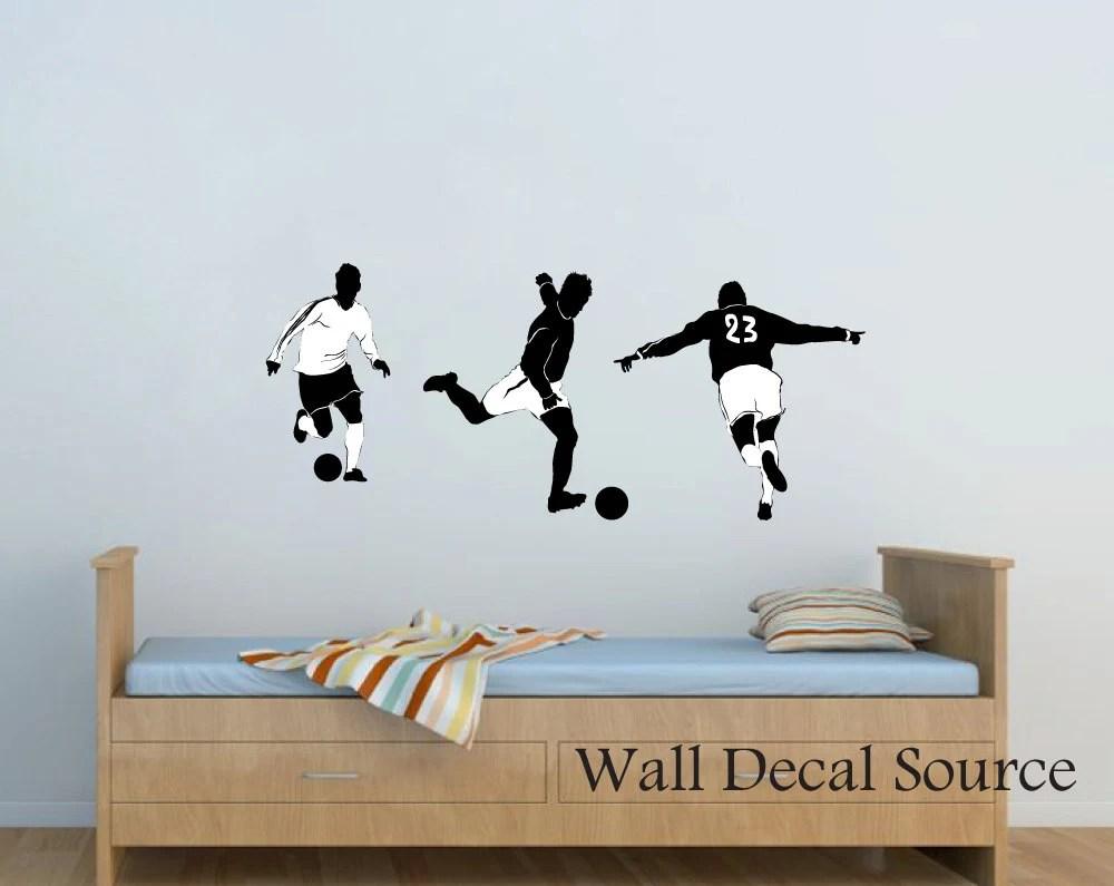Soccer Wall Decal Football Wall Decal Vinyl Wall Decal
