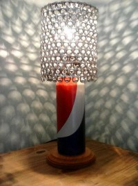 Pepsi Soda Can Lamp with Pull Tab Lampshade Great Gift for