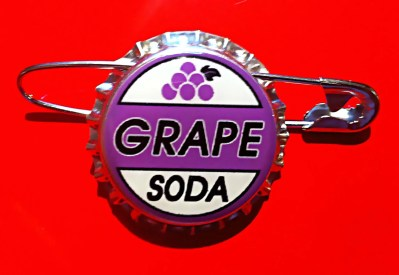 Replica Ellie Badge Grape Soda Bottle cap Pin. Disney Pixar Up