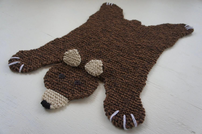 Flat Brown Bear Rug Mat Blanket