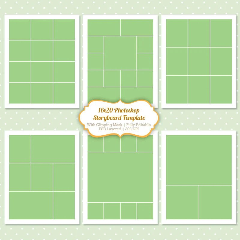 Collage Templates Photoshop. free collage set of four 12x12 ...