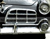 Car Art Photo - Black and White Photography - Classic Car Photograph - Retro Photo - Man Cave Decor - 1955 Chrysler Crown Imperial - 8x10
