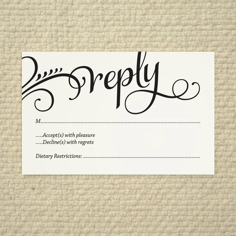 wedding reply card templates free - 28 images - new free printable