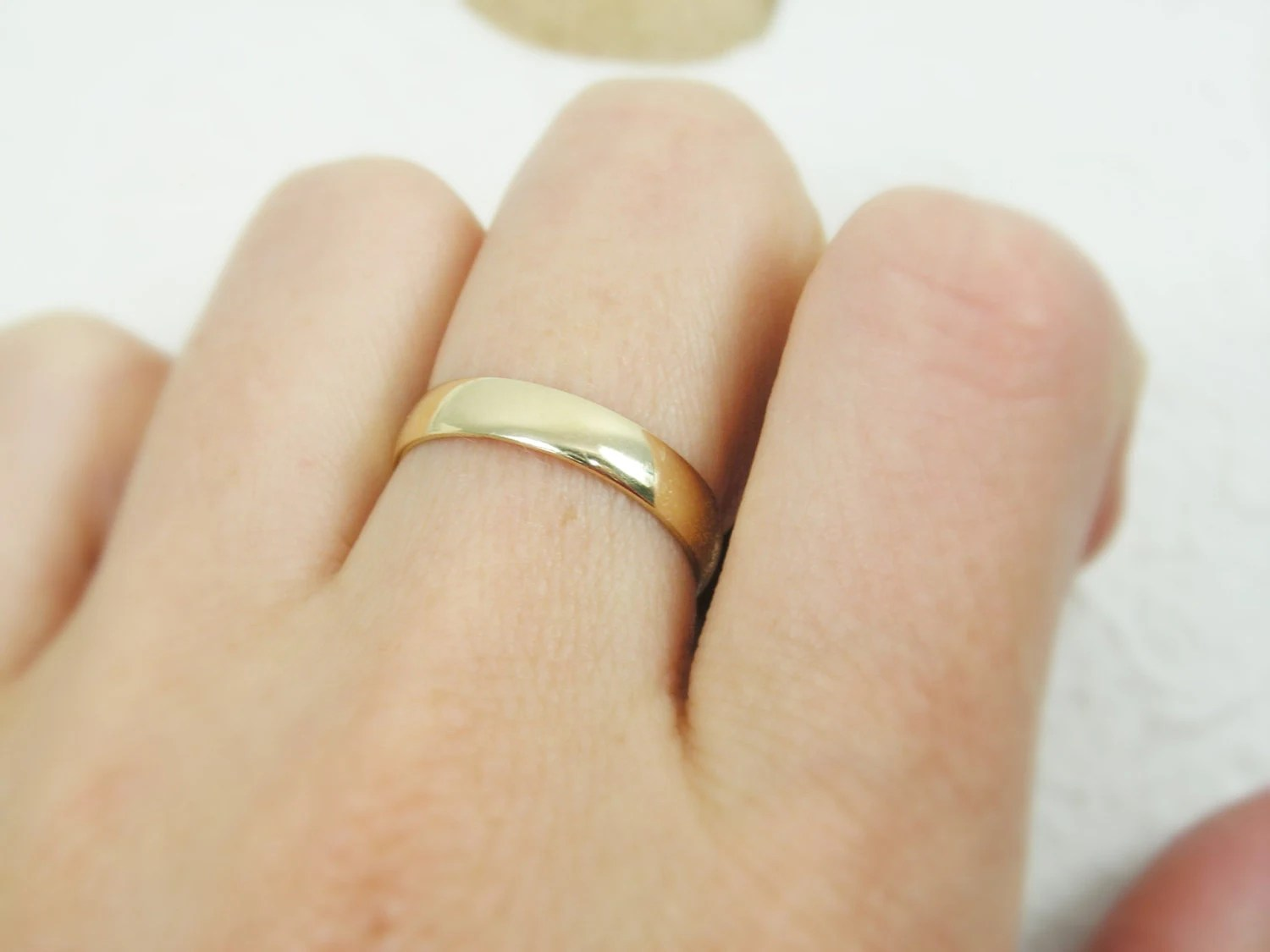 classic 4mm rounded wedding band 14k classic wedding rings zoom