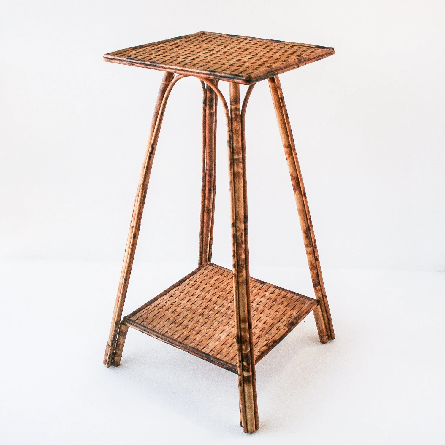 Bamboo Planter Stand Vintage Rattan Bamboo Plant Stand Side Table