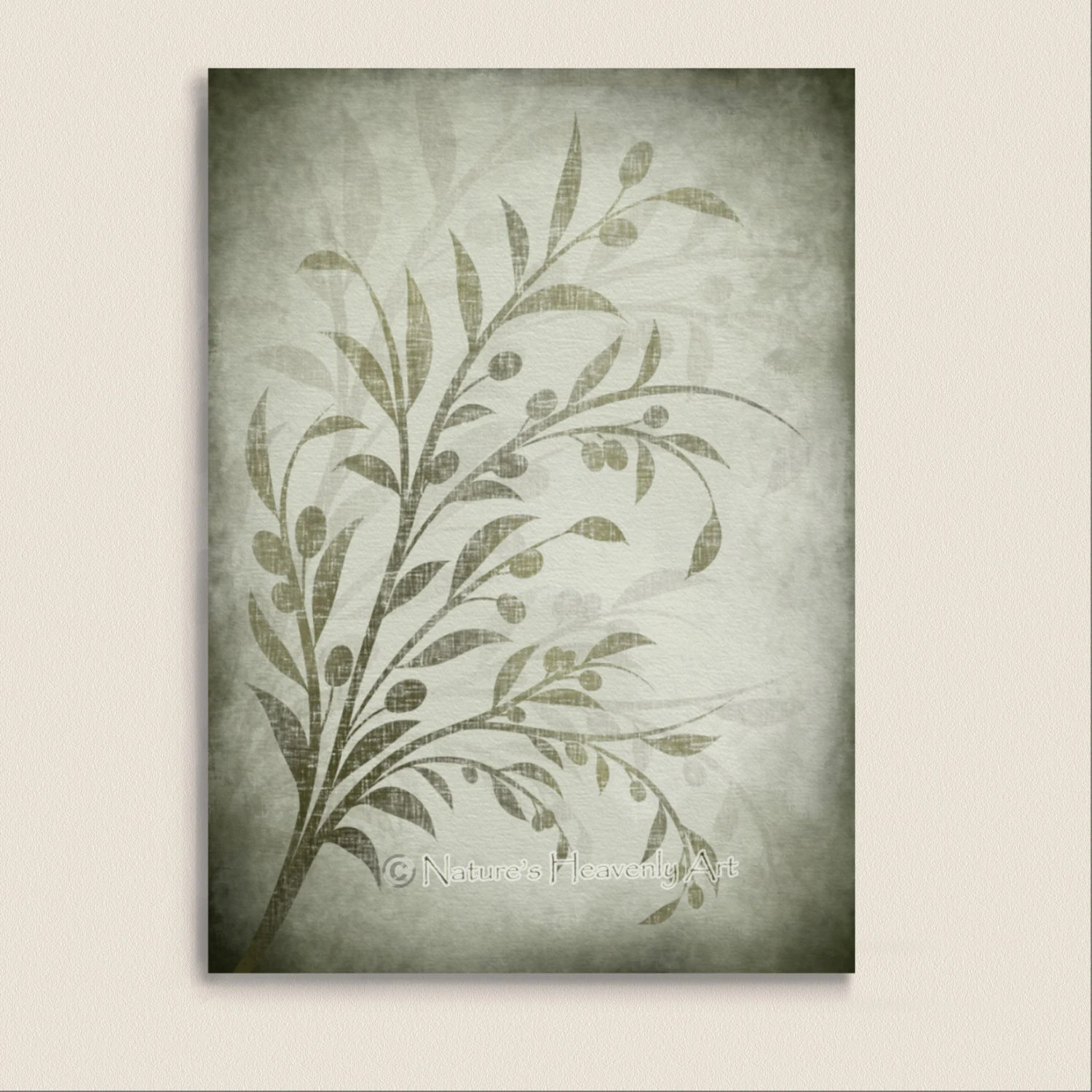 Olive Green Wall Decor Sage Green Olive Branch Kitchen Wall Print Botanical Art 5 X