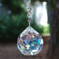 Prism Crystal Suncatcher Window Decoration by JGBeadedJewelry