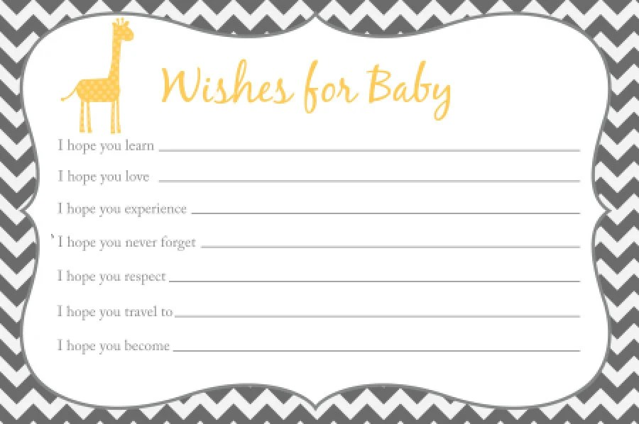 Wishes For Baby Template Choice Image - Template Design Ideas