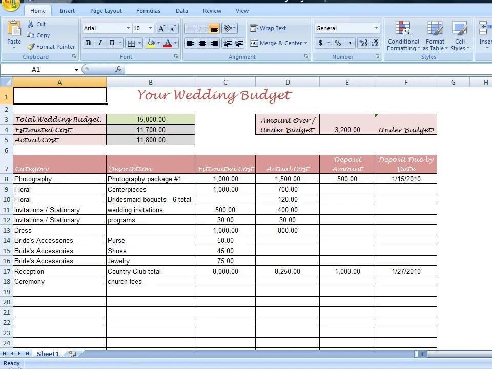 wedding budget spreadsheet template wedding budget breakdown - wedding budget estimates