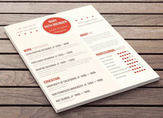 format courant cv