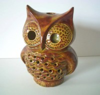Vintage Ceramic Owl Candle Holder by REdesignkc on Etsy