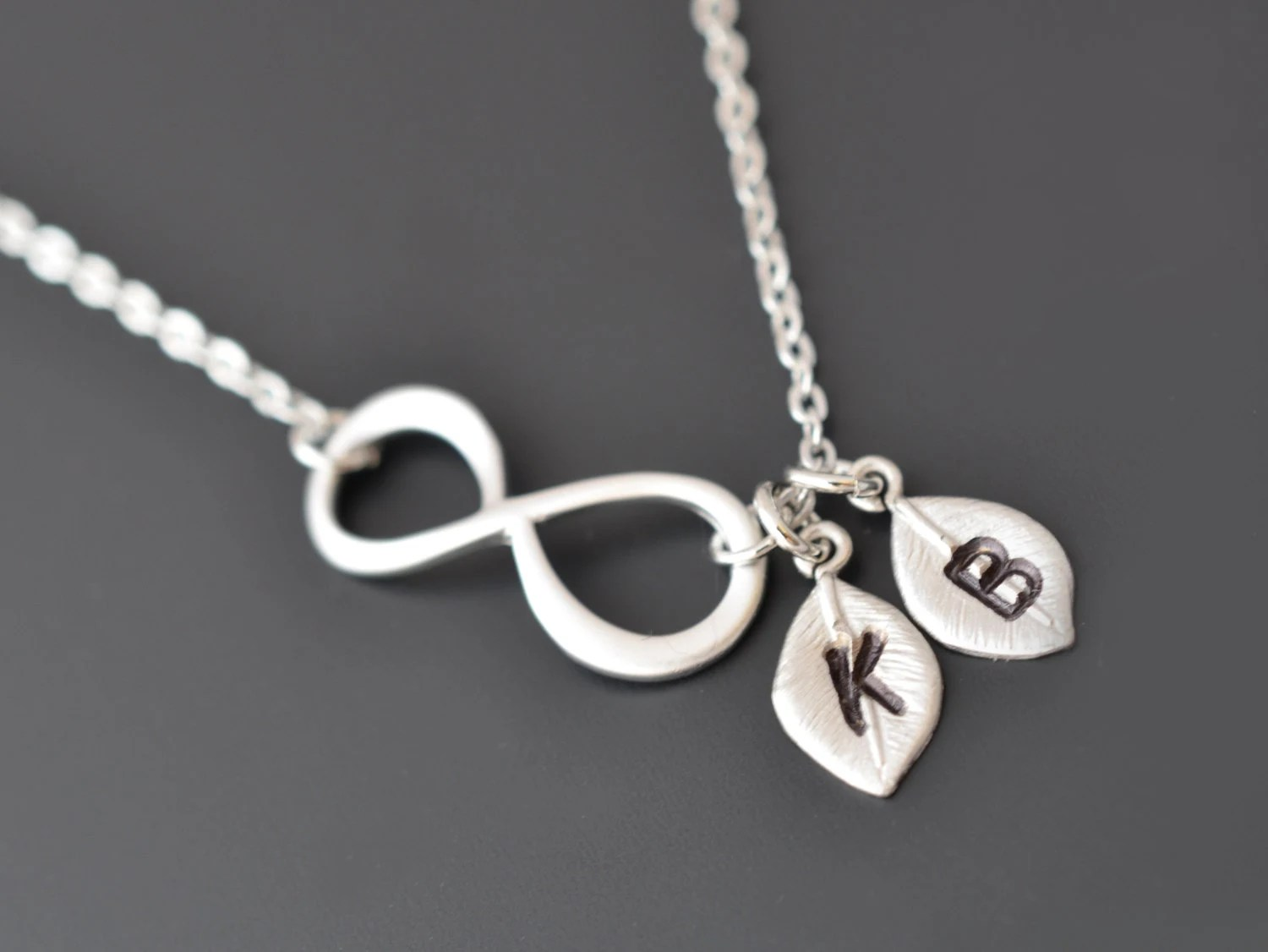 10 Off Personalized Infinity Necklace Initial