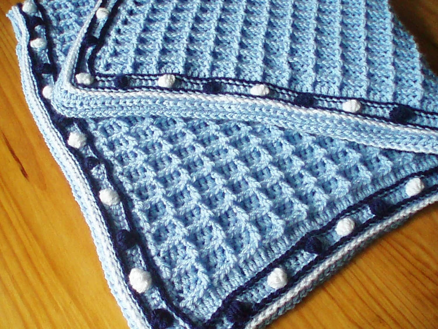 Abc Baby Blanket Crochet Pattern Crochet Pattern For Baby Blanket In Waffle Weave With Bobble