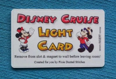 Mickey and Minnie Disney Cruise DCL Light Card for Fish Extender FE Gift