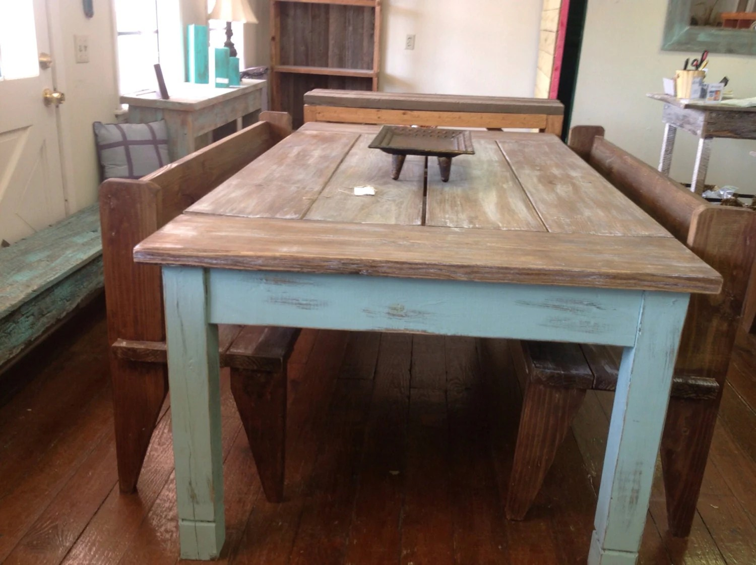 farmhouse table country kitchen tables Large farmhouse table
