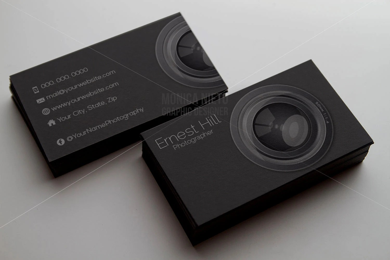 Printable Photography Business Card Template/ Photographer Business - card templates for pographers