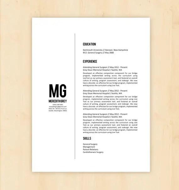 4 Minimalist Resume Templates - resume writing templates