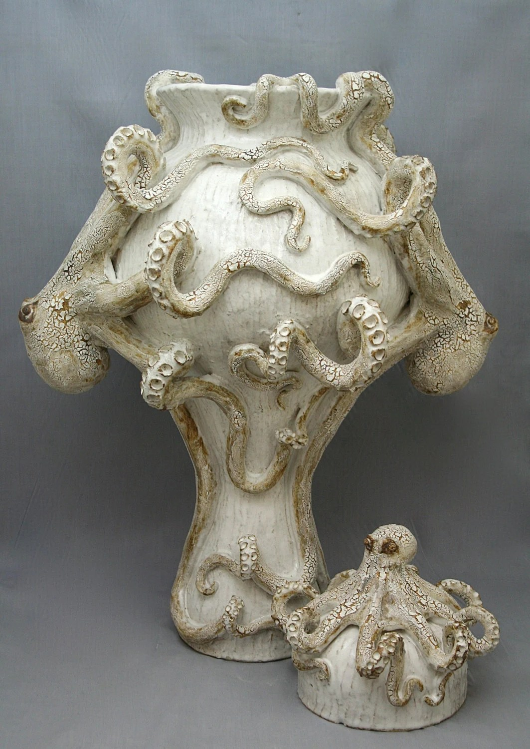 Ceramic Octopus Giant Ceramic Octopus Vase Urn By Shayne Greco Beautiful