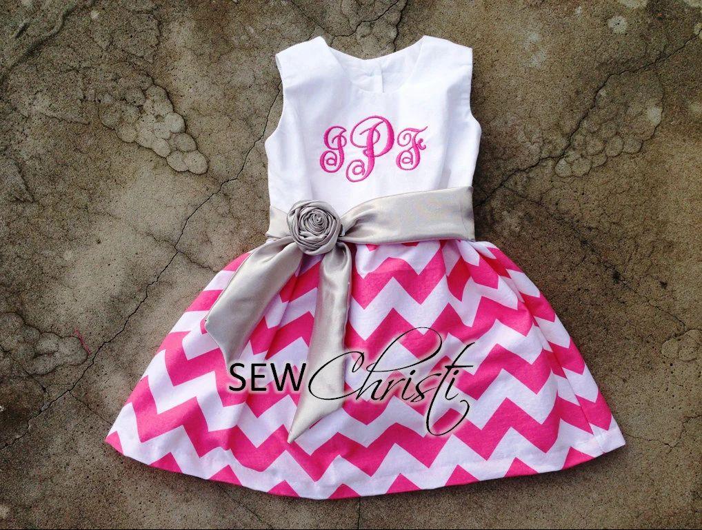 monogrammed baby girl dresses