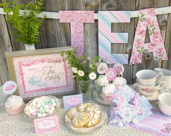 Printable Shabby Chic Wedding Invitation Templates