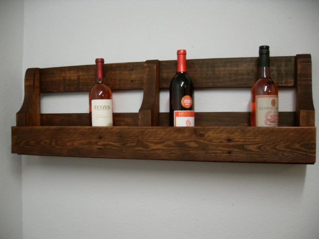 Long Wall Wine Rack Reclaimed Pallet Wine Rack Storage By Centercreekcreations