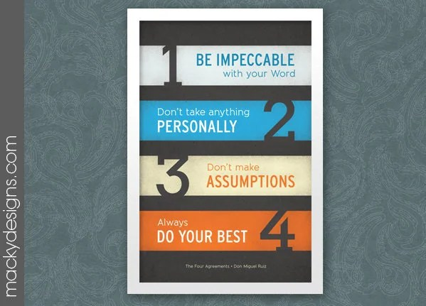 Smiley Face Iphone Wallpaper The Four Agreements Poster