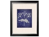 Navy Blue White Wall Art Navy White Botanical by ...
