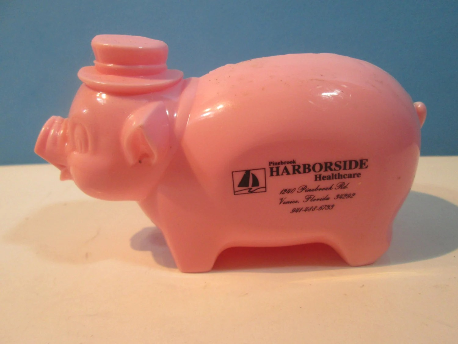 Pink Plastic Piggy Banks Vintage Pink Plastic Still Piggy Bank Harborside By Njdigfinds