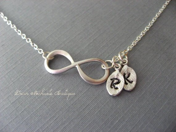 Personalized Infinity Necklace Initial Infinity Choker