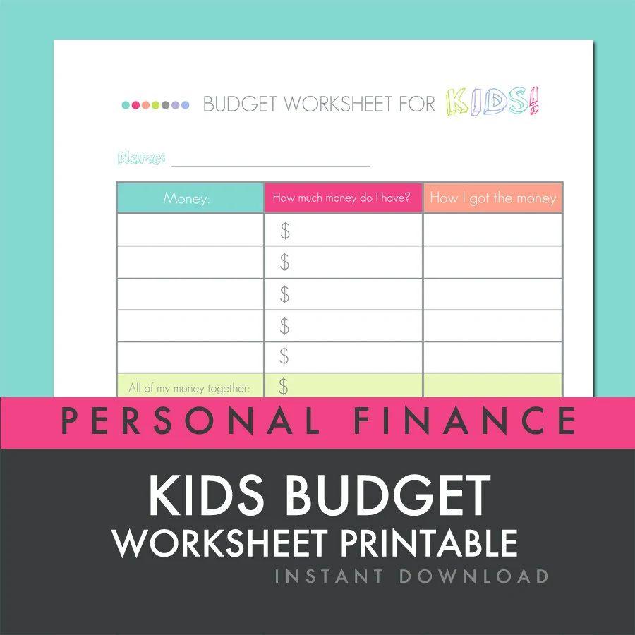personal finance budget worksheet