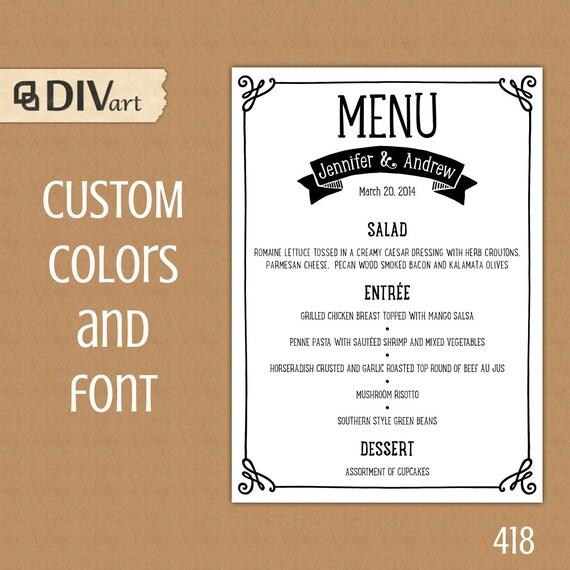 dinner party menu template - solarfm - party menu template