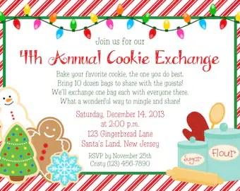Cookie Exchange Invitation Wording | Invitationswedd.org