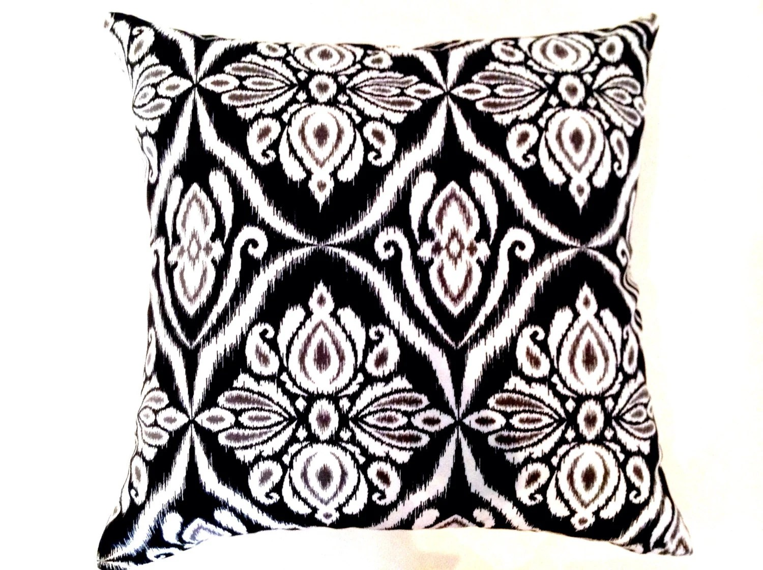 Boho Cushions Australia Cushions Boho Ikat Design Cushions Pillows Black And White