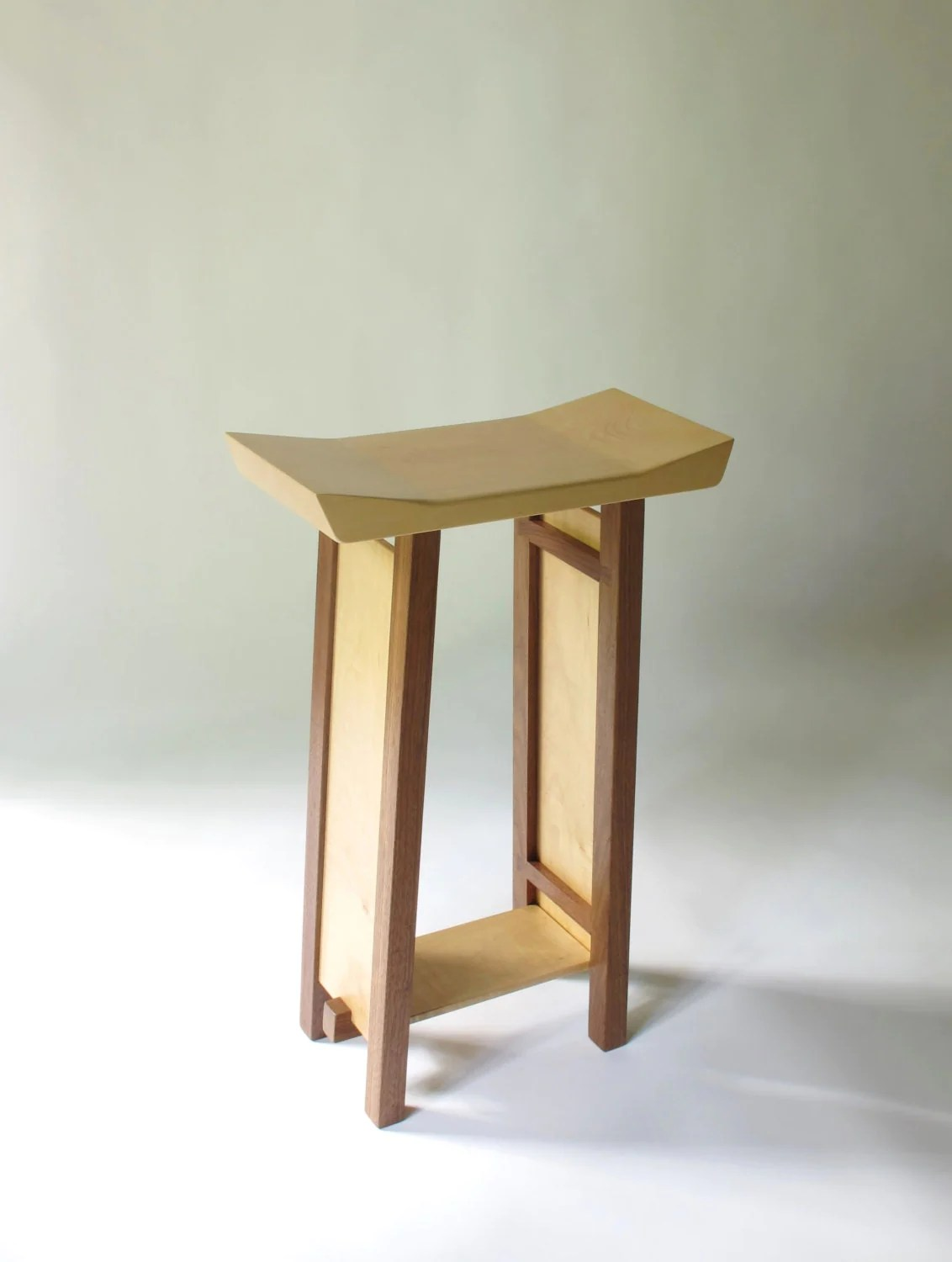 Modern Wood Counter Stool Bar Stool Modern Zen Wood Bar Furniture Handmade Custom