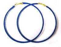 Royal Blue Earrings Blue Hoop Earrings Extra Large Hoops